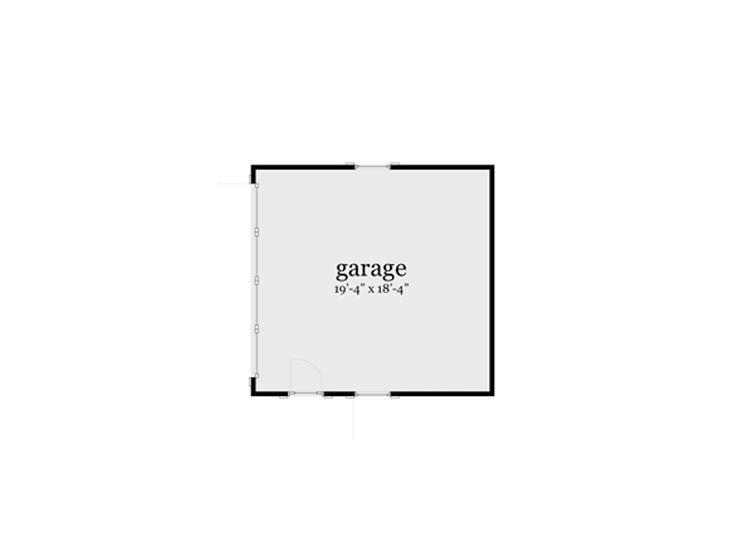 Garage Floor Plan, 052H-0017