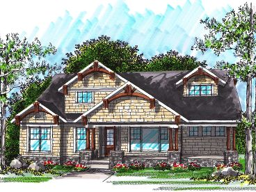 Ranch Home Plan, 020H-0249
