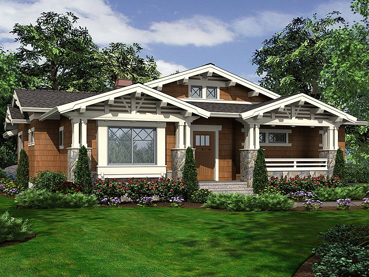 Bungalow Home Plan, 035H-0101