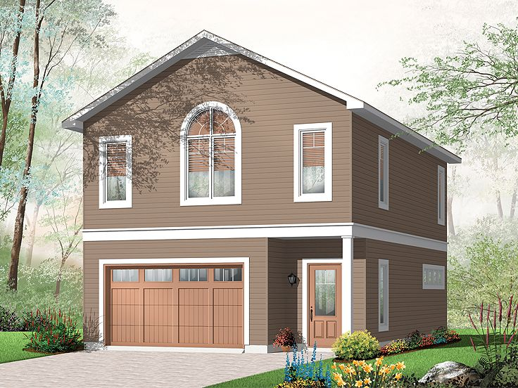 Garage Apartment Plans | Carriage House Plan with 1-Car Garage ...