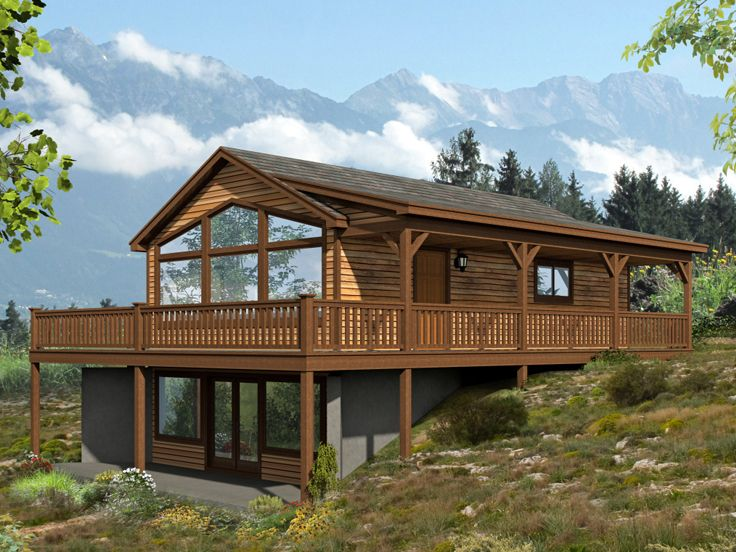 Vacation Cabin House Plan, 062H-0089