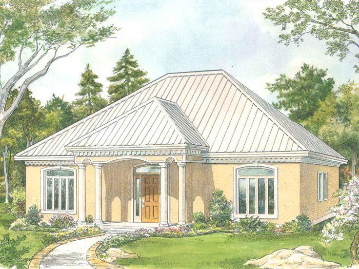 Empty-Nester House Plans | Sunbelt-Style Empty-Nester Home Design ...
